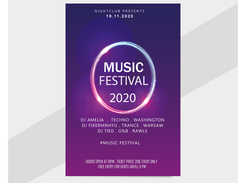 POSTER OF MUSIC branding design