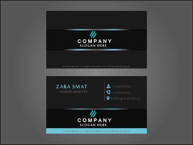 BUSINESS CARD HAVE BLUE LIGHT typography stationery design branding design