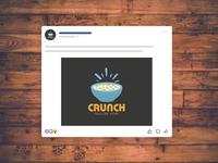CRUNCH LOGO logotype logodesign illustrator vector branding logo design