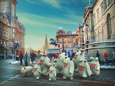 White walkers. Not the Got creepy dudes though. cute little monsters monsters scotland edinburgh illustrations 3dart 3d
