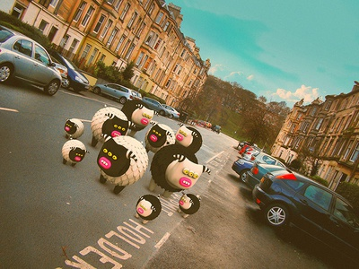 So, does anyone remember where we've parked the car? cute little monsters monsters scotland edinburgh illustrations 3dart 3d