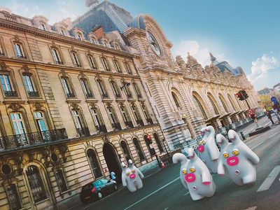 Paris sights seeing cute little monsters monsters paris france illustrations 3dart 3d