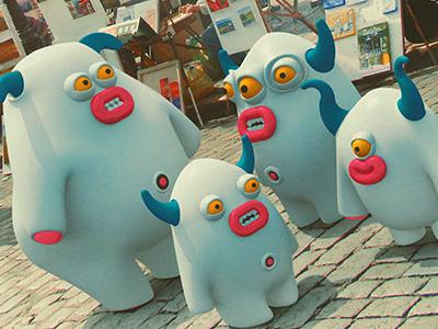 In Montmartre illustrations france paris montmartre monsters 3d