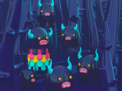 Black Forest creatures character monsters 3d