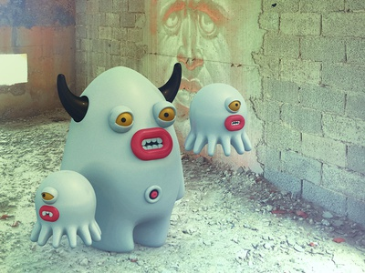 It's behind me, isn't it? illustrations illustration creatures character monsters 3d wd naxos
