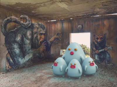 We are under attack naxos wd illustrations illustration creatures character monsters 3d