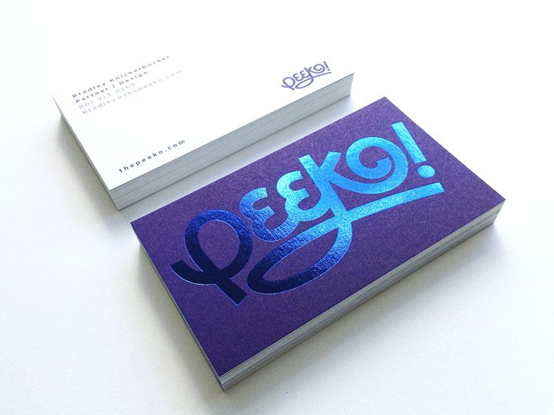Peeko Business Cards print business cards foil stamp peeko
