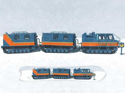 NeverSummer/Tailgate Alaska Design Contest Entry snow cat snowboard illustration