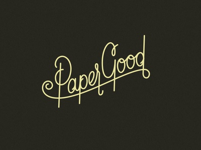 Paper Good Script custom typography custom type script typography branding logo