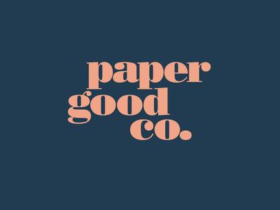 Paper Good Logo typography branding logo
