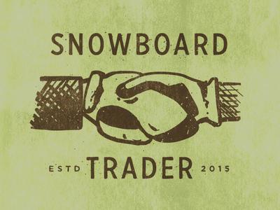 Snowboard Trader Logo illustration branding logo