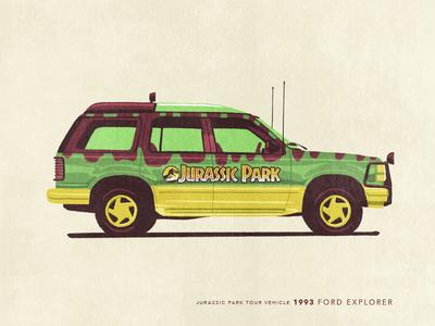 Car Series - Jurassic Park Tour Vehicle tour vehicle jurassic park car series illustration