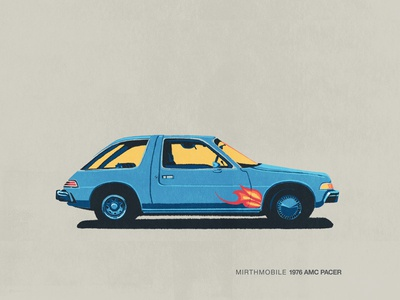 Car Series - Mirthmobile mirthmobile wanes world car series illustration