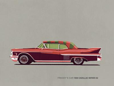 Car Series - Freddys Car freddy krueger movie cars car series illustration