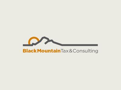 Black Mountain Logo mountain branding logo