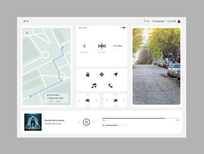 034 Car Interface car interface car ui dayli challenge daily ui design dailyui