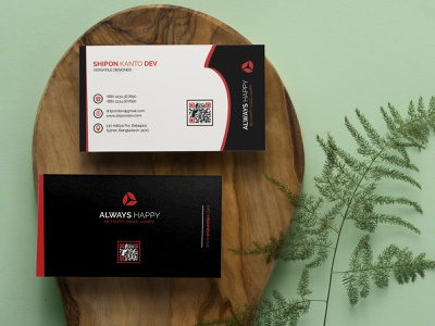Creative Business Card Design Template template personal brand background package mobile print personal identity brand typography vector ui illustration icon logo design business card businesscard branding graphic design