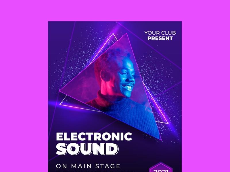 Club Flyer design photoshop instagram post socail media branding illustration graphic poster music flyer