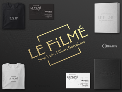 Le Filmé - Cinema and Photography Studio logo design le filmé studio le filmé studio le filmé cinema photography le filmé cinema photography lefilme