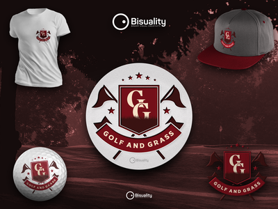 Golf and Grass Country Club branding emblem logo golfandgrass logo golfing golf logo golf and grass country club golfer golf club golf