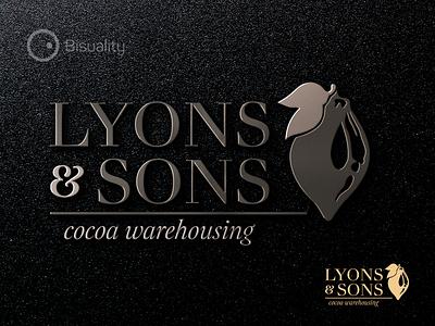 Lyons And Sons Logotype lyonssons logotype warehousing cocoa logo sons lyons