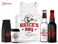 Brice's BBQ Texas style wood fire BBQ restaurant Logo