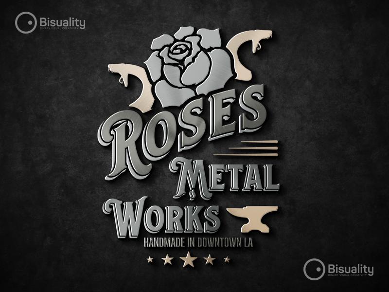 Roses Metal Works Logo losangeles jewelrymaker metalworkshop logoshop logodesigner logo jewelry vintagestore tattoo vintage rosesmetalworksla metalworks antiquestore rosesmetalworks