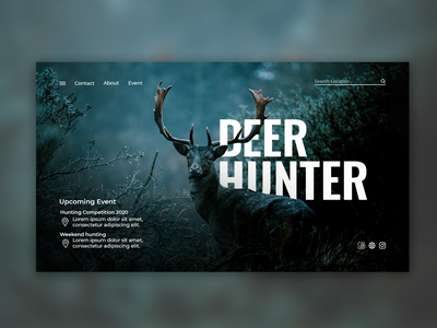 Deer Hunter - Home Page homepage website webdesign web ui green forest nature