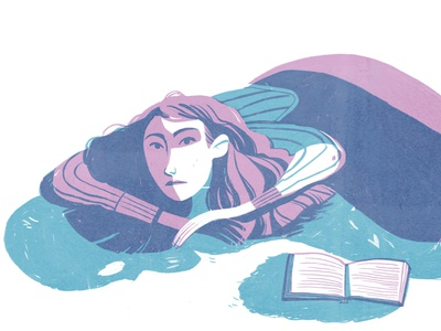 bucolic middle grade art middle grade 2 colors digitalart illustrator childrensillustration limited colour palette drawing illustration