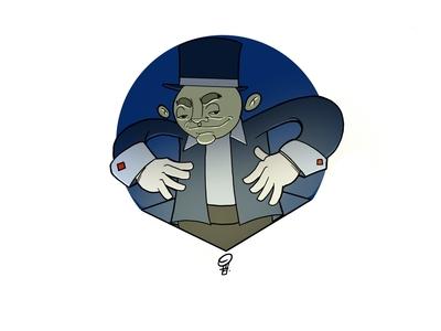 Magician design character design illustration