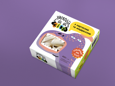 Varenij packaging food kids packaging branding logo design art character charcter design illustration