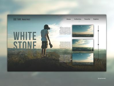 White Stone ux ui poster typography landscape design photography landingpage branding website illustrator design illustration