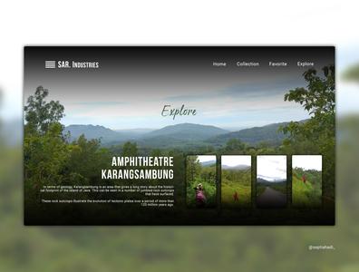AMPHITHEATRE KARANGSAMBUNG design minimal photography explore landscape ux ui art landingpage branding website illustration
