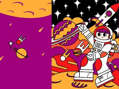 Astronaut branding vector illustration