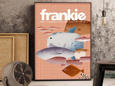 Fishes-mockup( personal works) mockup illustration