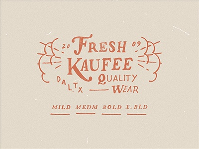 Freshkaufee stamp lettering