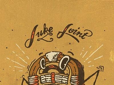 Juke Joint illustration design handtype drawn by hand jukebox character dancing