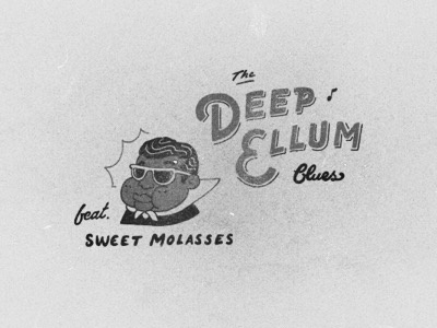 Sweet Molasses vintage style the blues beanboy texas hand type illos