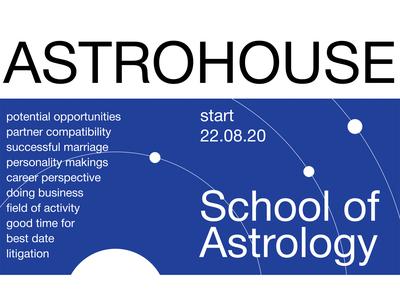 Poster for School of Astrology web design webdesign web poster