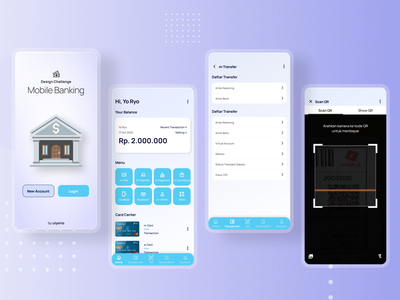 Mobile Banking App - UI Exploration mobile banking money management money app neumorphism minimal flat branding web mobile ui mobile app mobile ux ui app design
