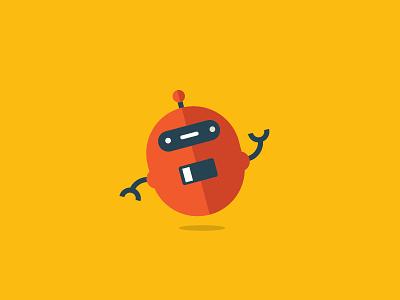 Beep Boop! robot cute vector graphic fun bright