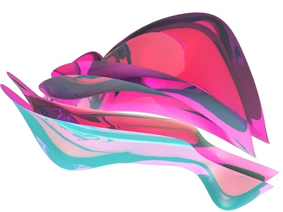 Colors and Shapes one pretty 3d shiny pattern form color