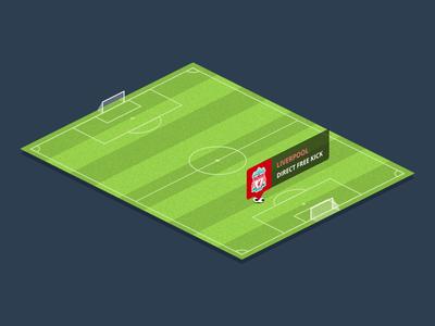 Football Pitch PSD football soccer pitch field isometric flat concept psd freebie