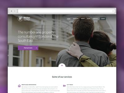 Fletcher Franklyn flat clean minimal marketing web design ui design property real estate consultancy