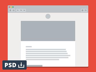 Email Window Mockup psd free freebie mockup window flat psddd download vector