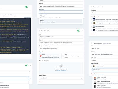 Editor Blocks page builder minimal forms settings ui interfaces design app ui