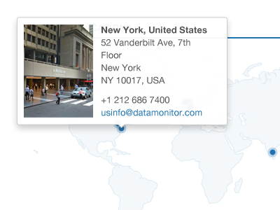Office Map Popover popover ui ux contact map blue