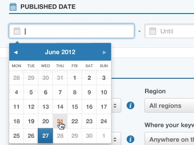 Datepicker ui calendar popover popup datepicker