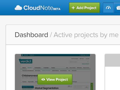 Cloudnote app ui web app cloudnote dashboard design feedback
