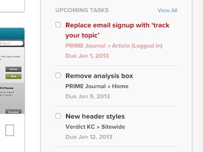 Tasks tasks ui web app app list